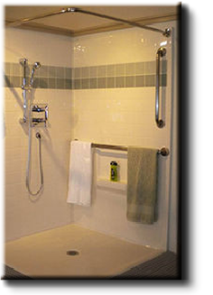 zero clearance roll-in showers